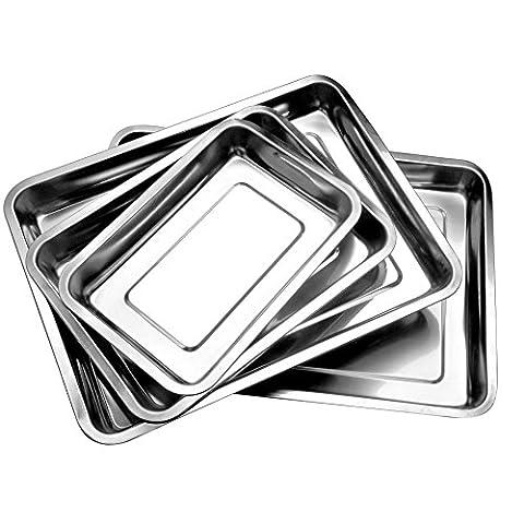 BBQ Grillplatte Grillschale Gemüse,Hochwertig Edelstahl 4,8cm Höhe (ca. 27 cm lang, 20 cm breit) (Runde Gemüse Servierplatte)