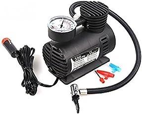 Tradeaiza Tyre Air Pump for Car and Bike (Black, 300PSI6)