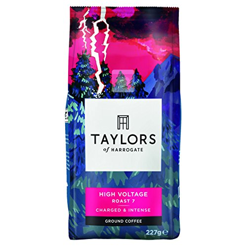 Taylors of Harrogate High Voltage Ground Coffee 227 g (Pack of 6)