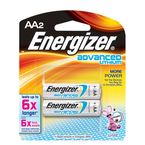 Advanced Lithium Batteries, AA, 2/Pack, Sold as 1 Package Eveready Energizer Lithium Aa-batterie