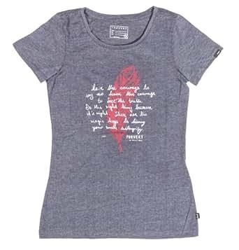 FORVERT Damen T-Shirt Liv, Black melange, S, 378654