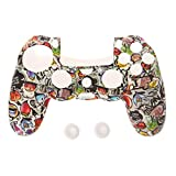 Shizuhatagayama Gamepad contrôleur Coque de protection en silicone Sleeve Guards +...