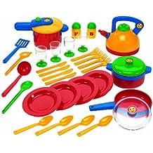 Klein 9194 Emma's Kitchen - Juego de utensilios de cocina de plástico