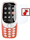 Slabo 2 x Pellicola Protettiva di Schermo Alta Protezione per Nokia 3310 (2017)Shockproof Antirottura (pellicole rimpicciolite, a Causa della convessità del Display) - Made in Germany