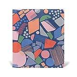 COOSUN Resumen geometría de los Medias estirable Cubierta del libro, cabe la mayoría de libros de texto de tapa dura hasta 9 x 11.-adhesivo libre, Escuela de cuero de la PU del libro protector 9-x-1