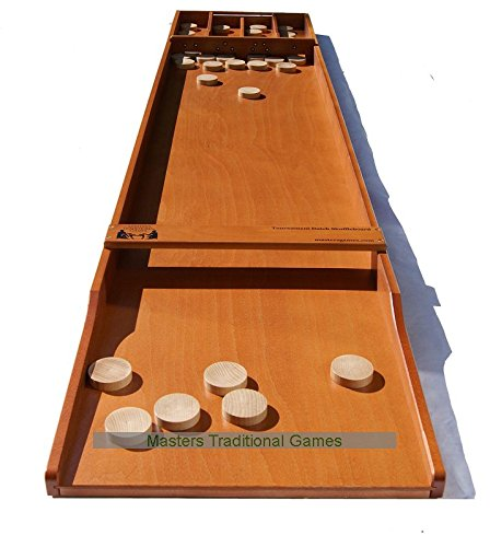 Masters-Tournament-Dutch-Shuffleboard-Beech-Sjoelbak-with-disks
