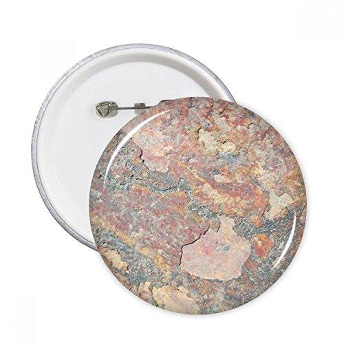diythinker Rusty Rauen Eisen Textur Rost Rund Pins Badge Button Kleidung Dekoration Geschenk 5X xl mehrfarbig (Rusty-pin)