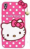 Aarnik Cute Hello Kitty with Pendant Girls Back Case Cover for HTC Desire 828 - Pink