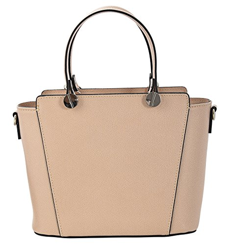ADRIANA Top-Handle Bag Tote Handbags Women's Genuine Leather Made in Italy Handcraft-lightpink