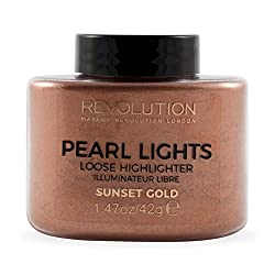Makeup Revolution Pearl Lights Loose Highlighter, Sunset Gold, 42g