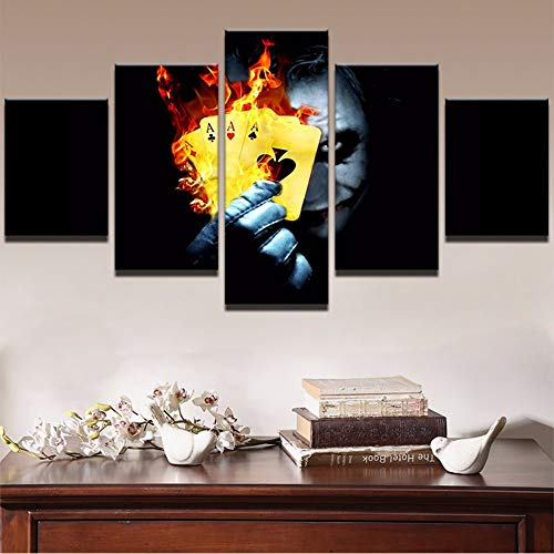 Malerei abstrakte Kunst Wandbilder Home Room Decor Kunstdruck 5 Panel Film Flamme Poker Poster 20x35/45/55cm,no frame