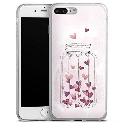 Apple iPhone X Slim Case Silikon Hülle Schutzhülle Herzen Liebe Grafik Silikon Slim Case transparent