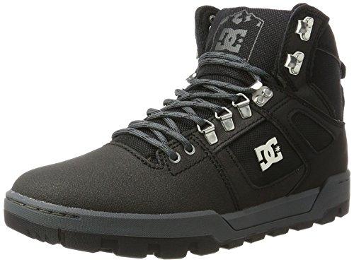 DC Shoes Herren Spartan High WR Boot Klassische Stiefel, Schwarz (Black/Black/Dk Grey), 42 EU (Kostenloser Versand Auf Der Zunge Ringe)
