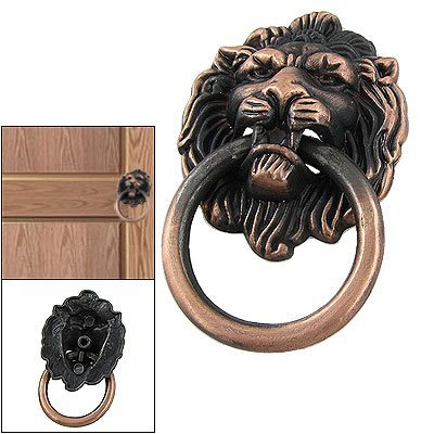 niceEshop(TM) Lion Head Vintage Brass Cabinet Cupboard Door Pull Handle-Bronze