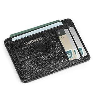 9b037ff050df5 Teemzone Gustig Leder Geldscheinklammer Kreditkartenetui Visitenkartenetui  Kartenetui Kartenmappe Kreditkartenhülle Ausweisetui Börse Klip