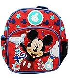 Mini Rucksack–Disney–Mickey Mouse Magic Sterne Schule Bag, New 129431
