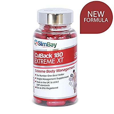 Strong Fat Burners, Slimming Pills, Diet Pills, Weight Loss Pills | CutBack 180mg NEW Formula Weight Management Supplements - 100% Money Back Guarantee! from SlimBay