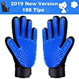 Cypin Pet Grooming Glove Efficient Pet Hair Remover Mitt - Massage Tool with Enhanced Five Finger Design - for Dogs & Cats