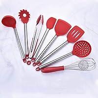 GaLon Juego de espátula auxiliar de cocina de silicona Con cubeta de  almacenamiento 69e7e2120509