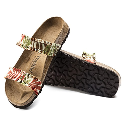 Papillio Damen Sandalen FLOWER FRILL BROWN