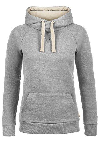BlendShe Julia Damen Damen Hoodie Kapuzenpullover Pullover Mit Kapuze Und Cross-Over-Kragen, Größe:M, Farbe:Stone Mix (70813)