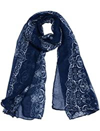 Amlaiworld Femmes classiques imprimé foulard foulards gaze foulard, 160cmx80cm