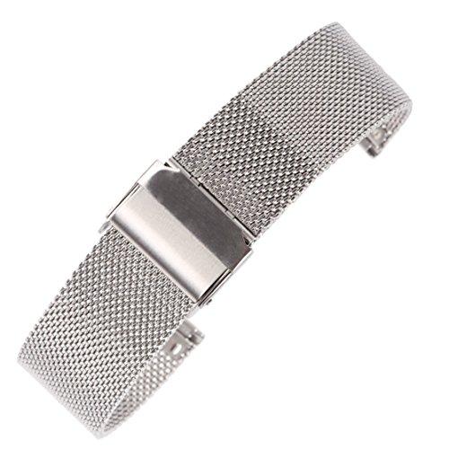16mm dünnes Netz milanese Uhrenarmband-Silber-Kette Gürtel Armband für Damenuhren 304 Edelstahl