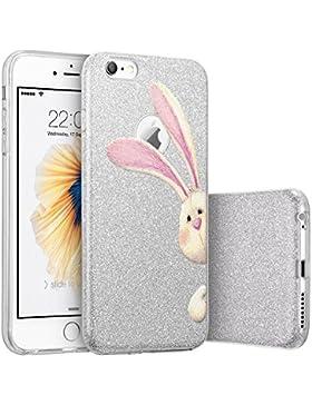 Qissy® Cover iPhone SE 5 5S la copertura di scintillio TPU copertura Glitter Paper PP strato interno elefante...