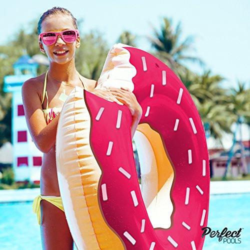 Gonfiabile gigante ufficiali 'Pools perfetto' Donut Rubber Ring | Piscina Donut Float 110 centimetri