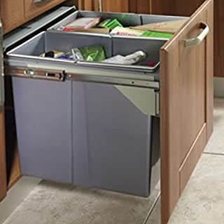 RECYCLE BIN PULL OUT KITCHEN INTEGRATED 600MM 90 LTR BASE UNIT CABINET ECO BIN