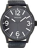 Oozoo Herren Digital Quarz Uhr mit Leder Armband C8572