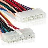 ATX 24 pol Stecker auf 20 pol Buchse |20cm | Internes Stromkabel | Adapter Netzkabel | Mainboard Strom -MOVOJA