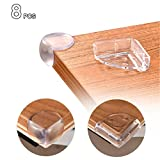 iitrust 8 Stück Eckenschutz Kantenschutz Transparent Geruchlos für Tisch- und Möbel-Ecken (L-Form & Kugel)