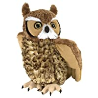 Wild Republic 12310 Horned Owl Plush Soft, Cuddlekins Cuddly Toys, Gifts for Kids 30cm