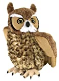 Wild Republic Great Horned Owl Plush Soft Toy, Cuddlekins Cuddly Toys, Gifts for Kids 30c