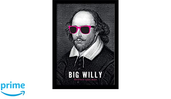 William Shakespeare MP10907P-PL Big Willy Mounted and Framed Print Multi-Colour 30 x 40 cm