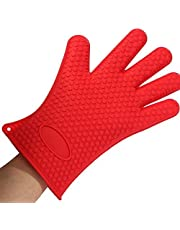 Glive's Microwave Antiscald Hand Gloves Silicone Heat Resistant Grilling BBQ Insulated Gloves for Cooking, Baking, Smoking & Potholder