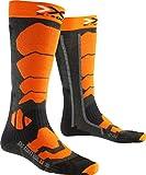 X-Socks Ski Control 2.0, Calze Uomo, Antracite/Arancione, 42/44