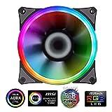 GameMax Cooler Rainbow Force Series 1*Fan 21 LED Halo RGB Rainbow