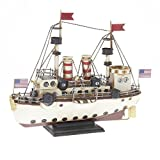 Modello di nave di latta – in stile antico-retro-vintage - diverse dimensioni - (Nave USA - ca. 34 x 12 x 28 cm)