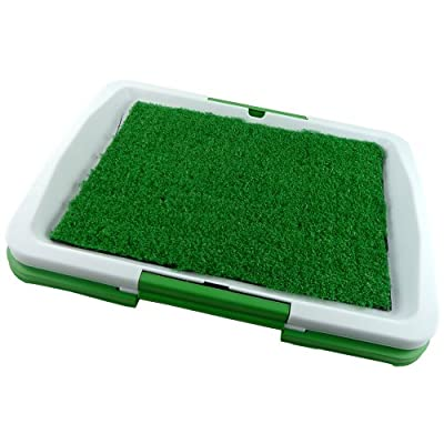 Puppy Dogs Pet Toilet Pee Wee Training Potty - Re-usable Again And Again - Ingenious Mat And Tray Training System - It Comes With 3 Layers - Odour Mat Resistant - Plastic Mesh Tray - Durable, Easy Clean Collection Tray - Easy To Assemble In Seconds - Idea