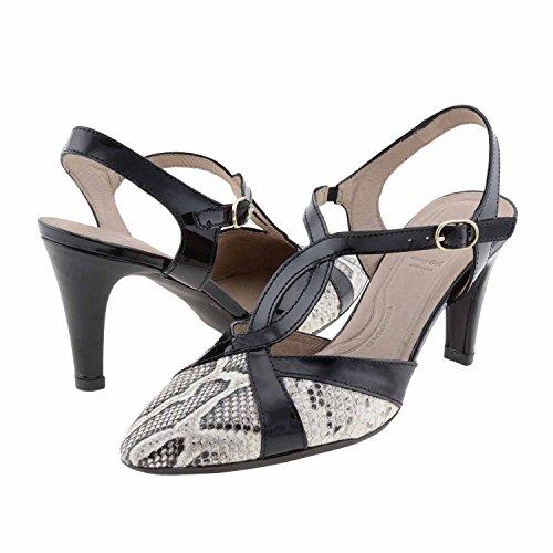 Wonders chaussures serpent en cuir verni M-2037 Noir