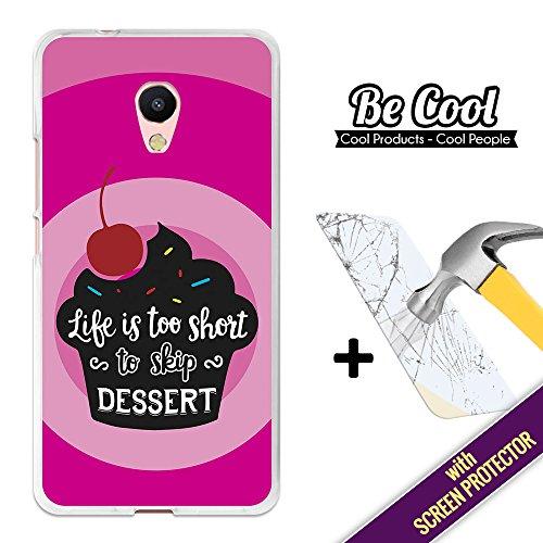 BeCool Custodia Cover [ Flessibile in Gel ] per Meizu M5s [ +1 Pellicola Protettiva Vetro ] Ultra Sottile Silicone,protegge e si adatta alla perfezione al tuo Smartphone. Non perderti il dolce.