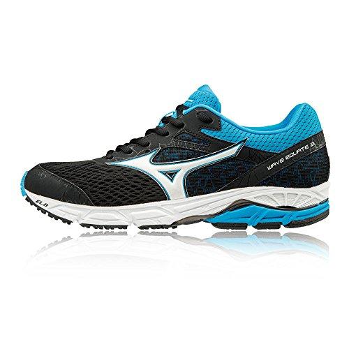 Mizuno Wave Equate 2, Chaussures De Course À Pied Multicolores Pour Homme (noir / Blanc / Divablue)