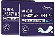 Sirona Anti Bacterial Ultra Thin Panty Liners Small - 60 Liners (2 Pack - 30 Counts Each)