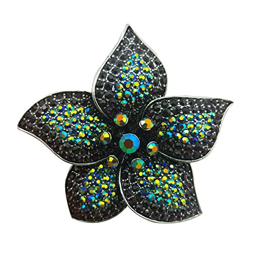 quke Mujer Azul Circonita flor cristal...