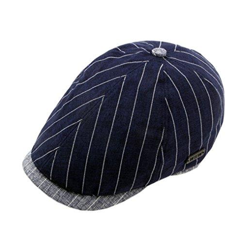 ACVIP Adulte Unisexe Casquette Plate/Chapeau Visière Souple/Hat en Coton de Chanvre Vacance Voyage Outdoor Bleu Marine
