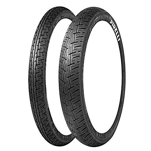 Paire Pneu pneus Pirelli City Demon 3.00 - 18 47S 130/90 - 15 66S