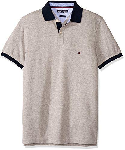 Tommy Hilfiger Herren Poloshirt Tommy Jacquard Polo S/S Sf Grau