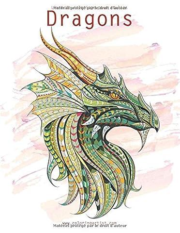 Livre de coloriage pour adultes Dragons 1 &